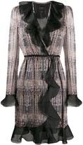 Giambattista Valli long-sleeve ruffle wrap dress