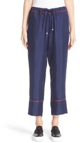 Moncler Women's Drawstring Silk Pants