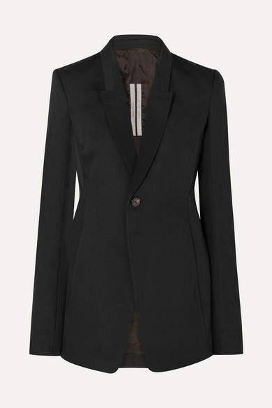 1e7f290ab Wool-crepe Blazer - Black