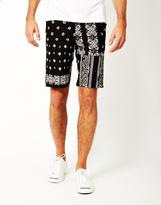 HUF Bandana Patchword Shorts Black