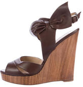 Valentino Bow Wedge Sandals