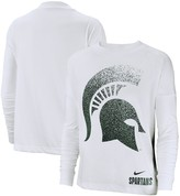 Nike Women's White Michigan State Spartans Performance Long Sleeve T-Shirt