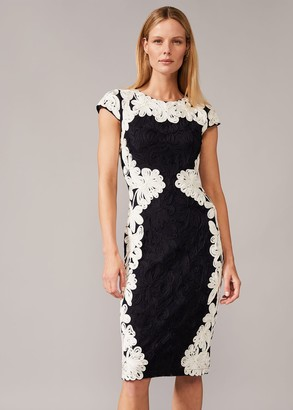 Phase Eight Nori Tapework Lace Fitted Dress