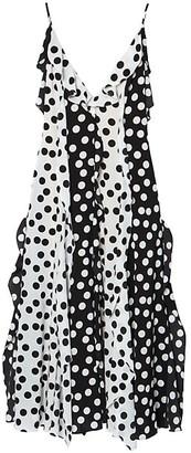 Carolina Herrera Ruffle Polka Dot Slip Dress