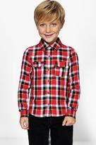Boohoo Boys Checked Long Sleeve Shirt