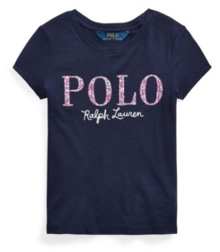 Polo Ralph Lauren Toddler Girls Floral Cotton Jersey Logo Tee