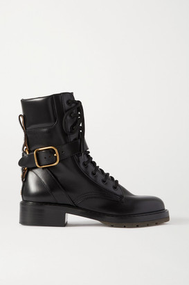 Chloé Diane Leather Ankle Boots - Black