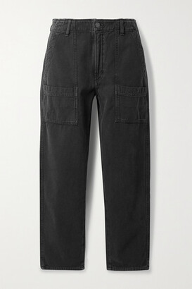 Citizens of Humanity - Chelsea Cotton-twill Straight-leg Pants - Black