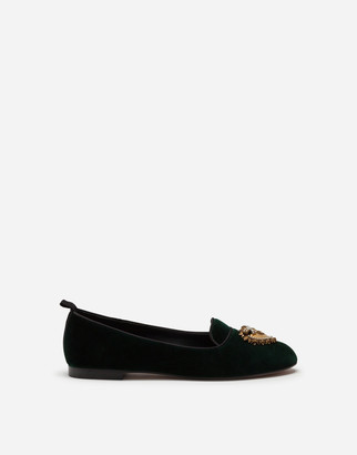Dolce & Gabbana Velvet Devotion Slippers