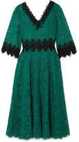 Dolce & Gabbana Lace Midi Dress - Green