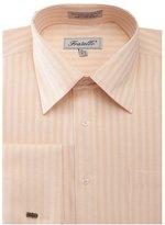 Sunrise Outlet Men's Herringbone French Cuff Shirt - 18.5 36-37