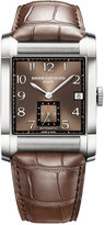 Baume & Mercier Men's Swiss Automatic Chronograph Hampton Brown Alligator Leather Strap Watch 34x48mm M0A10028
