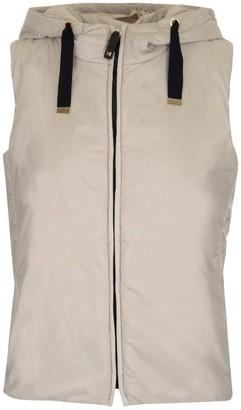 Max Mara Hooded Zip-Up Vest
