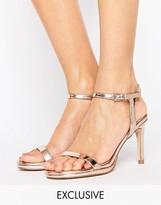 Faith Dolly Rose Gold Heeled Sandals