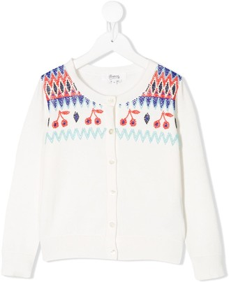 Bonpoint Bead Embroidered Cardigan