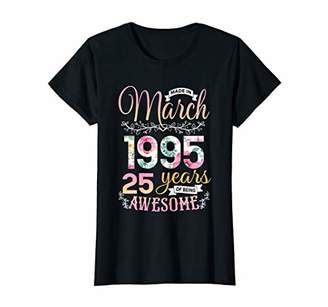 Womens 25 Years Old Shirt Made in March 1995 T-Shirt T-Shirt
