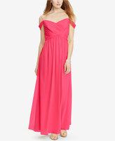 Lauren Ralph Lauren Sweetheart Georgette Gown
