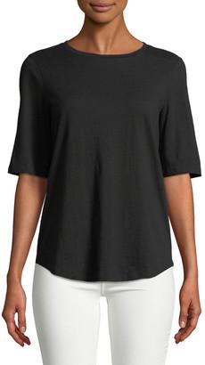 Eileen Fisher Petite Slubby Organic Cotton Jersey Top