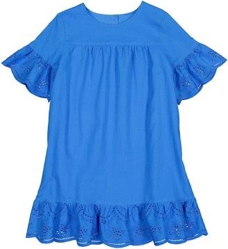 La Redoute Collections Embroidered Cotton Dress with Short Sleeves, 3-12 Years