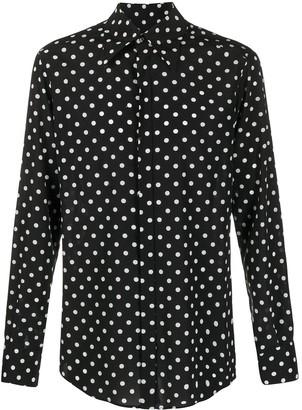 Dolce & Gabbana Polka Dot Printed Shirt