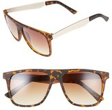 BP Women's 56Mm Matte Square Sunglasses - Brown Tort