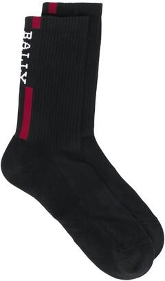 Bally Logo Stripe Socks