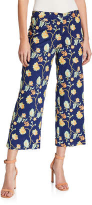 Mestiza New York Malaga Floral-Embroidered Crop Pants