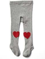 Gap Heart patch sweater tights