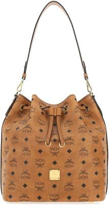 MCM Essential Drawstring Bucket Bag