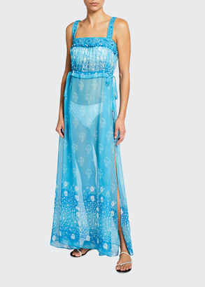 Ramy Brook Adonia Long Printed Coverup Dress
