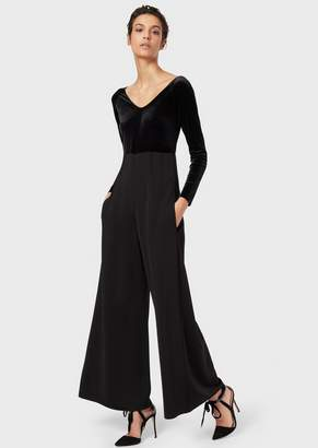 Giorgio Armani Jumpsuit With The Top Part In Velvet