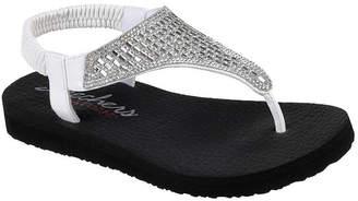 Skechers Womens Meditation Slingback Strap Flat Sandals