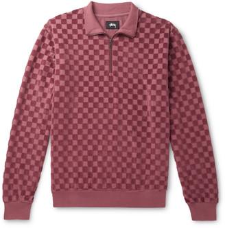 Stussy Textured Cotton-Blend Half-Zip Sweater