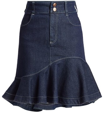 See by Chloe Flare Denim Skirt