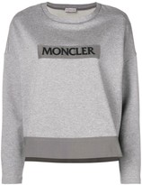 Moncler logo patch sweater