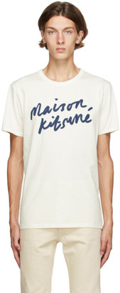 MAISON KITSUNÉ Off-White Handwriting Classic T-Shirt