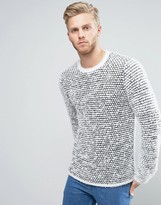 Asos Knitted Jumper In Contrast Texture
