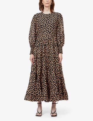 Rixo Pip floral-print woven maxi dress