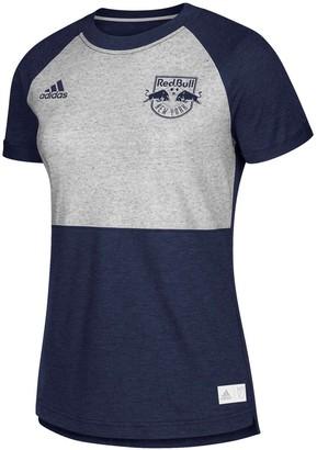 adidas Women's Navy/Heather Gray New York Red Bulls Lifestyle Club T-Shirt
