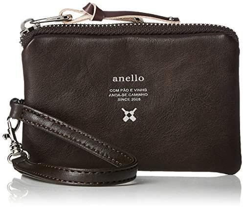 Anello (アネロ) - [アネロ] パスケース Premium PU リール付パスケース AJ-N0574 DBR ダークブラウン