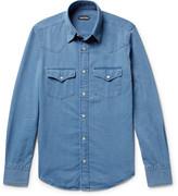 Tom Ford Micky Slim-Fit Washed-Denim Western Shirt