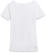 Tommy Hilfiger Final Sale- Embrodiered Flag Graphic Tee