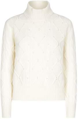 Max Mara Nelson Diamante Cable-Knit Sweater