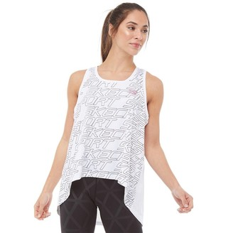 Skechers Womens Dharma Yoga Loose Fit Vest White