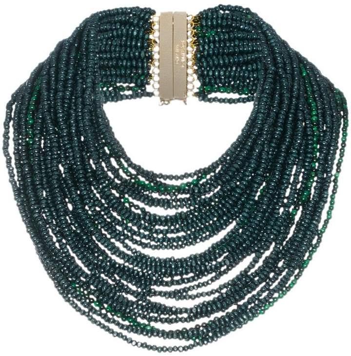 Rosantica green Sogno beaded necklace
