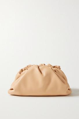 Bottega Veneta The Pouch Small Gathered Leather Clutch - Sand