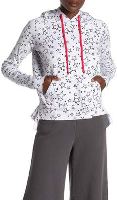 Frank And Eileen Star Print Drawstring Hood Sweater
