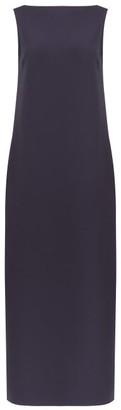 The Row Mirata Boat-neck Scuba Shift Dress - Navy