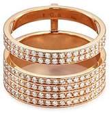 Repossi 'Berbère Module' diamond 18k rose gold two row ring