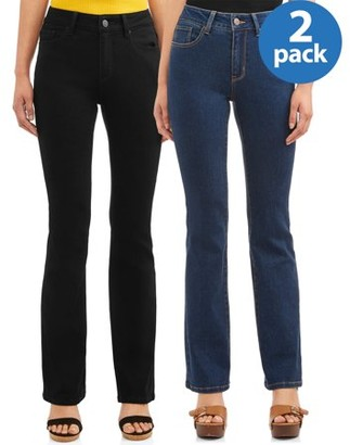 No Boundaries Juniors' Mid-Rise Bootcut Jeans, 2-Pack Bundle